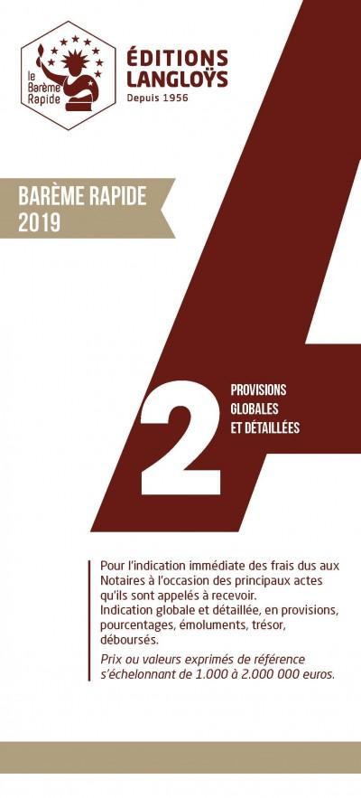 BAREME RAPIDE A2 - EDITION 2019