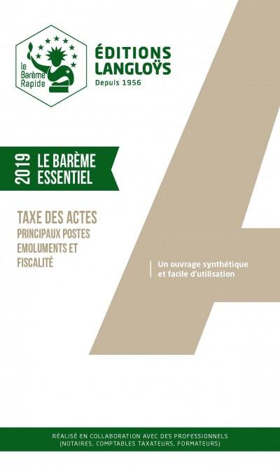 BAREME ESSENTIEL 2019 - EDITION ENRICHIE