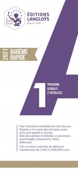 PRECOMMANDE BARÈME RAPIDE A1 - ÉDITION 2021