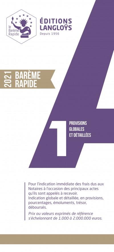 BARÈME RAPIDE A1 - ÉDITION 2021