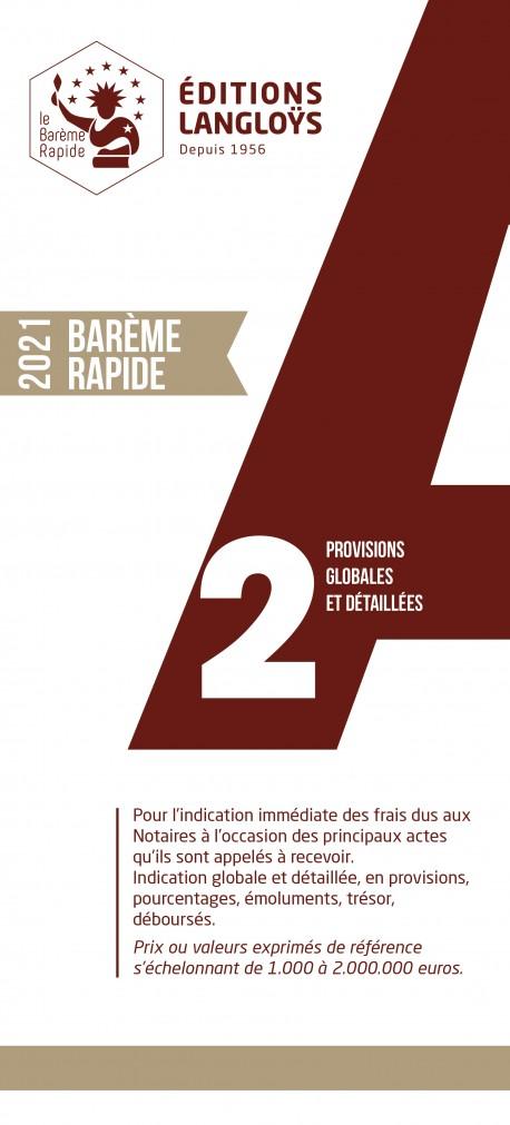 PRECOMMANDE BARÈME RAPIDE A2 - ÉDITION 2021