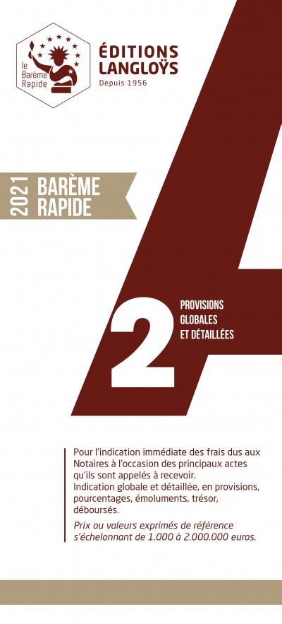 BARÈME RAPIDE A2 - ÉDITION 2021