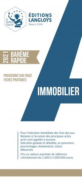 PRECOMMANDE ÉDITION 2021 - NOUVEAUTE BARÈME RAPIDE IMMOBILIER